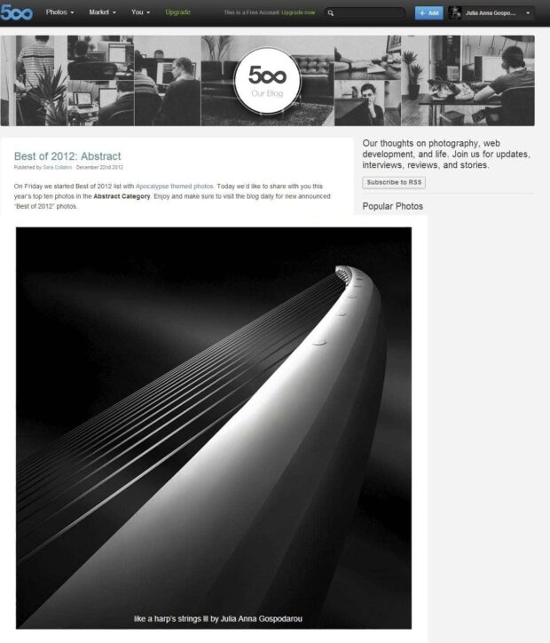 Like a Harp's Strings III in TOP 10 – BEST OF 500px 2012 – Category Abstract