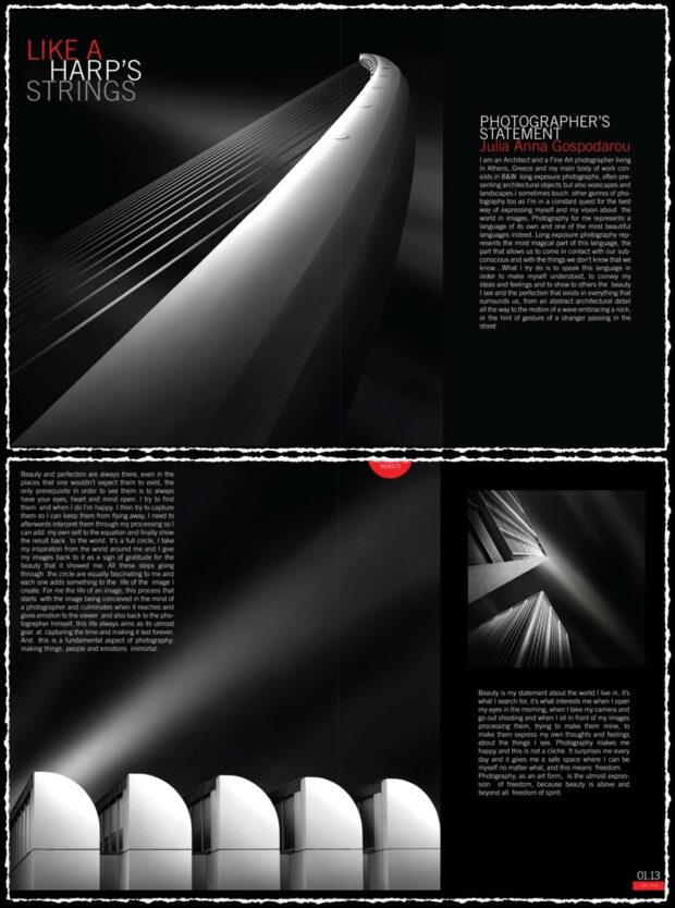 Feature in the Inaugural Issue of Artphotofeature Magazine - January 2013