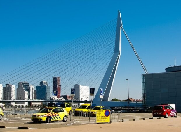 Erasmus Bridge - Behind The Scenes Shot