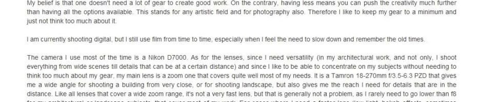 Interview on Fotoflows Photography Site, by Daniel Treadwell