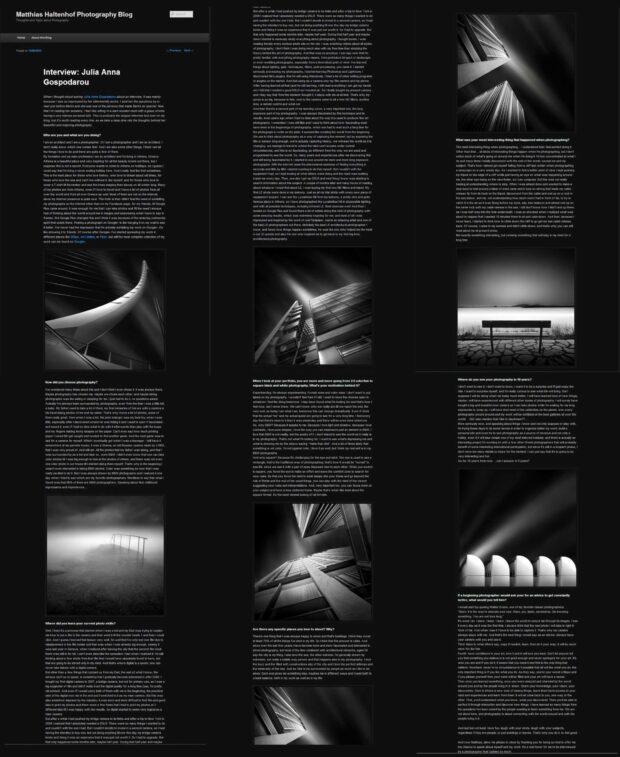Interview and Portfolio Feature - Matthias Haltenhof Site