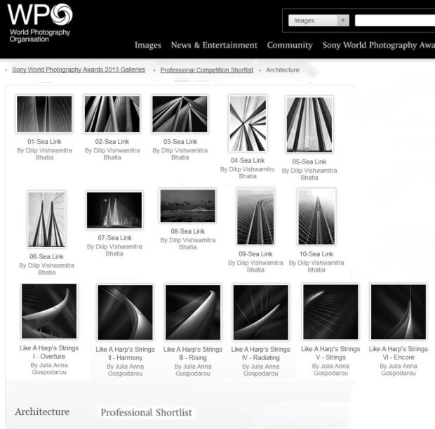 SWPA 2013 - Sony - World Photography Awards - Top 10 Finalist - Architecture Professionals