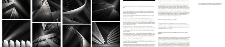 Interview and Portfolio Presentation - Interesting Phtographers site