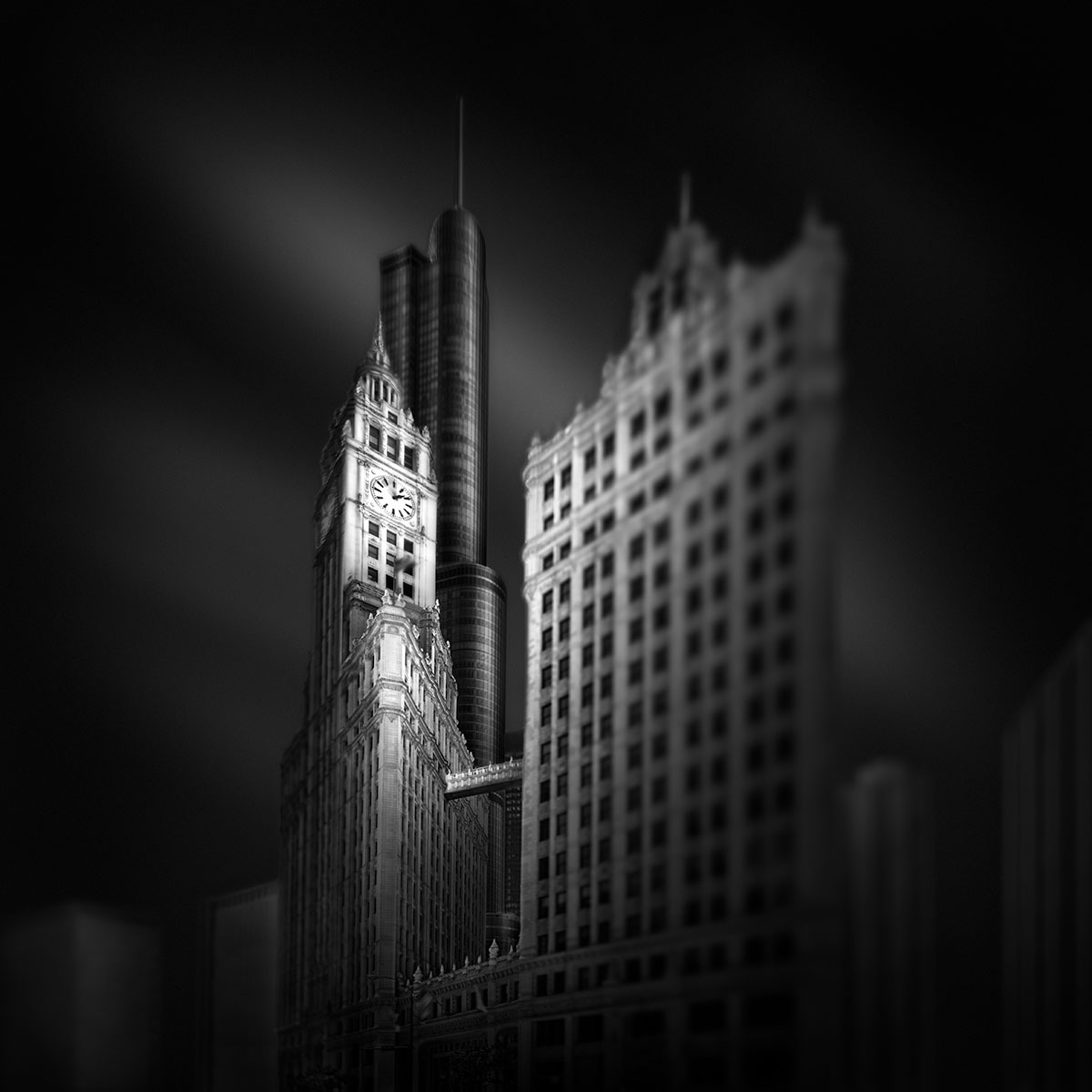 Fluid Time IV – Stopping Time - Wrigley Building and Trump Tower Chicago © Julia Anna Gospodarou - Vision and Making Of