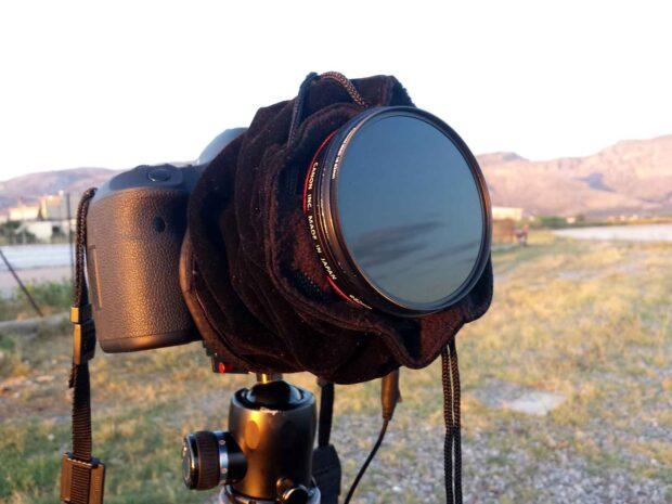 Firecrest 16 IRND Formatt-Hitech on Canon TS-E 24mm - Lens cover to avoid light leagage