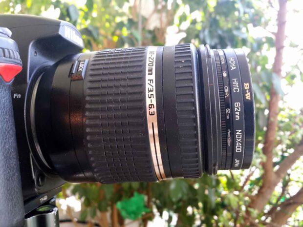 Hoya ND400 + Hoya Polarizer + B+W 106 on Tamron 18-270mm PZD