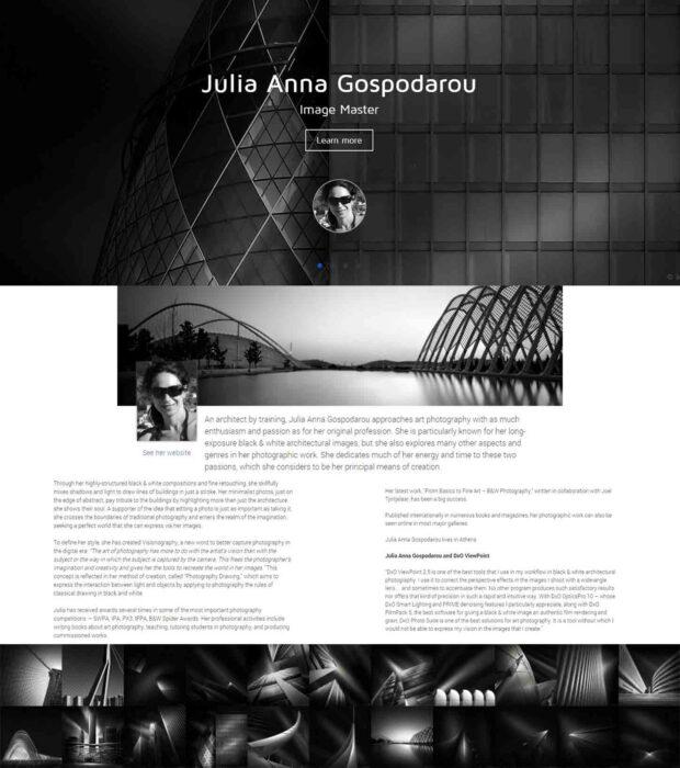 Julia Anna Gospodarou - DxO Labs Image Master of the Month
