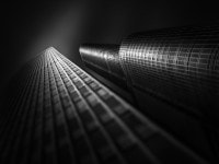 Black and White Fine Art Video Tutorial – Fluid Time V – Trump Tower and IBM Building Chicago