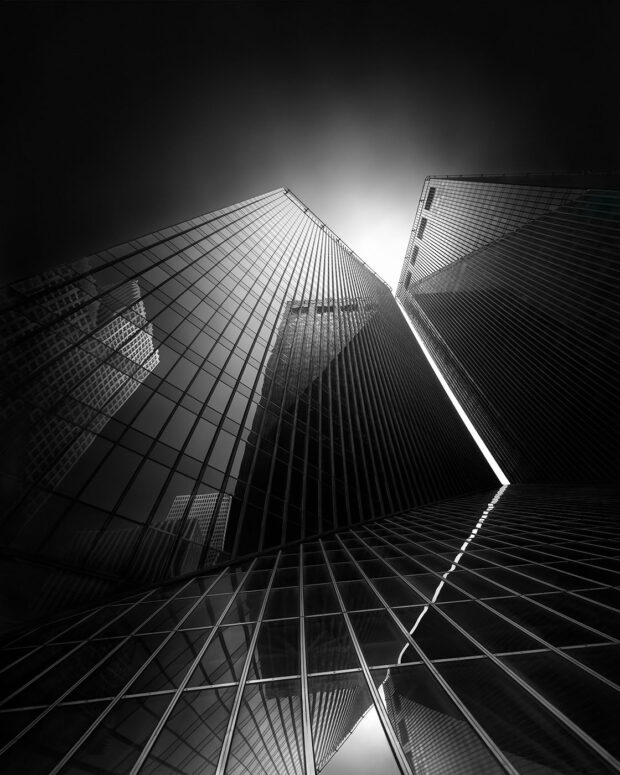 Equivalents I - Pennzoil Place Houston I © Julia Anna Gospodarou - creative process in photography