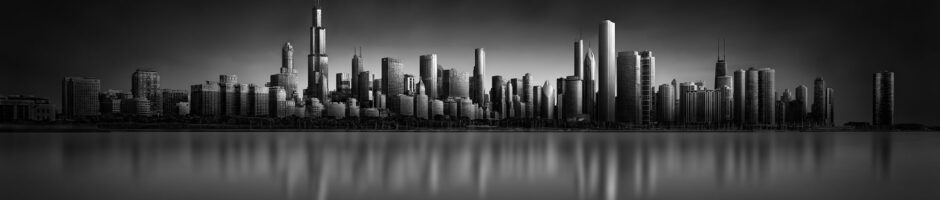 Mirroring Fantassy - Chicago Skyline © Julia Anna Gospodarou