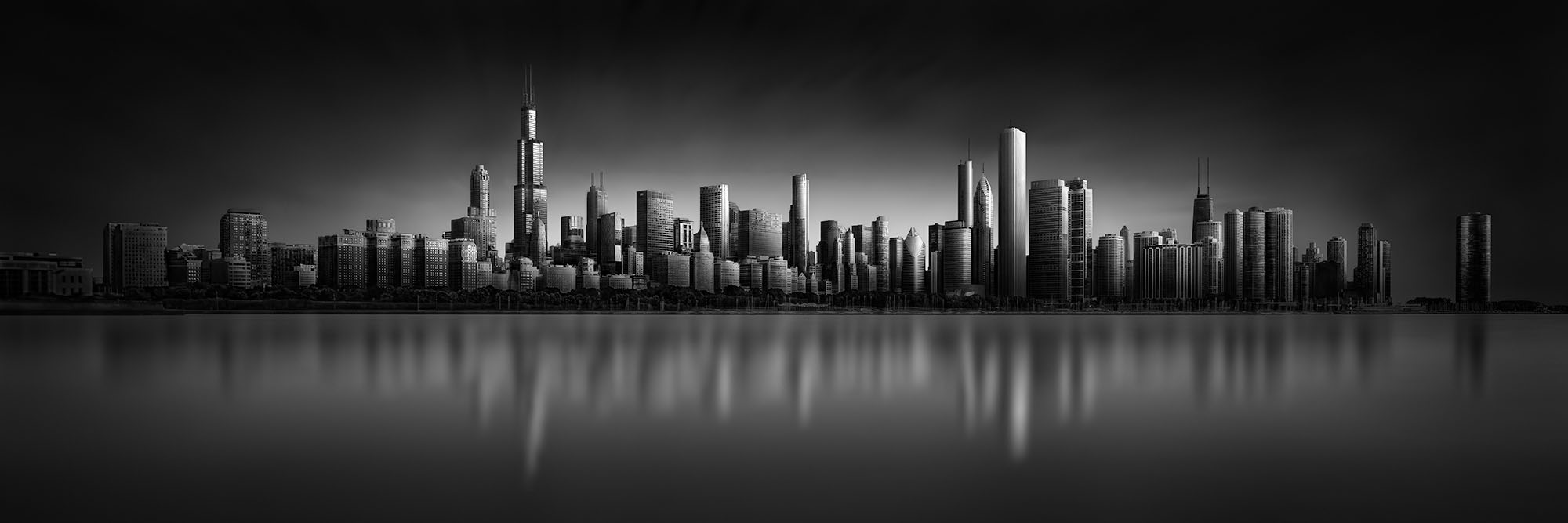 Mirroring Fantasy - Chicago Skyline © Julia Anna Gospodarou - (en)Visionography