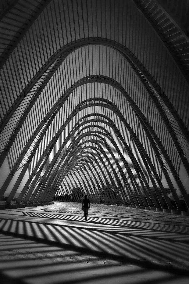 Waves of Imagination - Agora, Athens Olympic Center - Fine Art Arhitectural Street Photography © Julia Anna Gospodarou