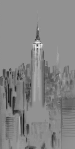 Urban Saga II - Empire State of Light - Empire State Building, New York City © Julia Anna Gospodarou - Photography Drawing Processing Layer