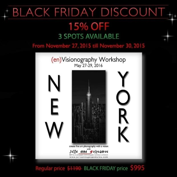 Black Friday 2015 banner New York Workshop