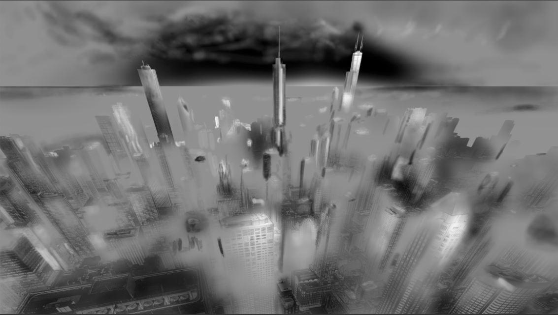 Urban saga III - Photography Drawing - Working with light and shadow