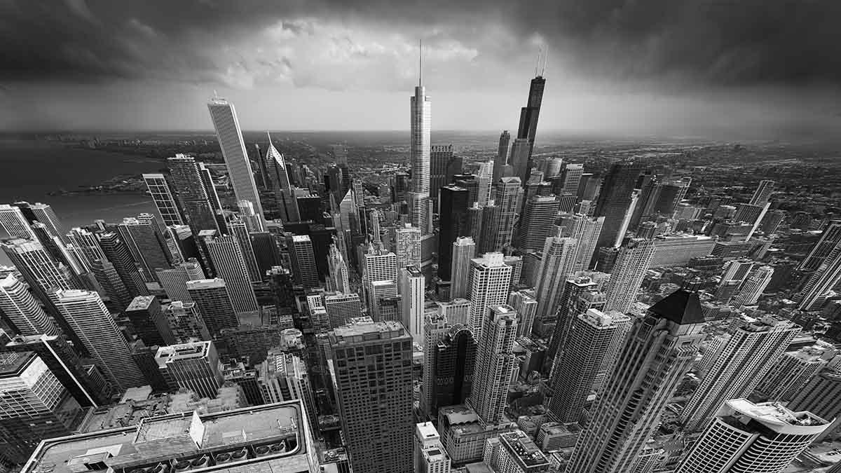 Urban saga III - Straightforward black and white conversion - The base for applying Photography Drawing (PhtD)