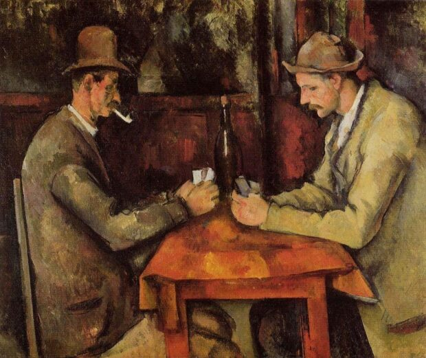 Famous paintings_Paul Cezanne - The Card Players