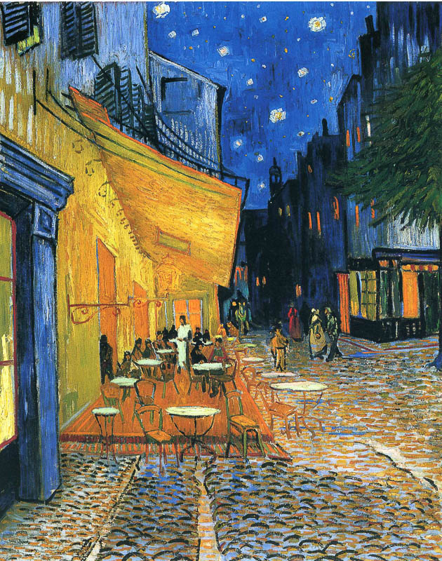 Van Gogh - Café Terrace at Night - Place du forum Arles 1888