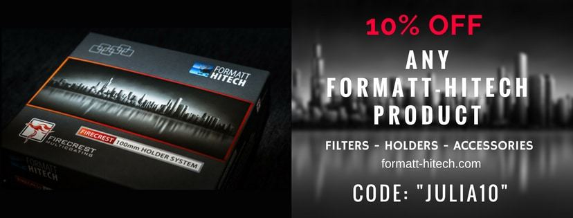 ANY Formatt-Hitech product - filters, holders etc. discount 10% OFF code JULIA10