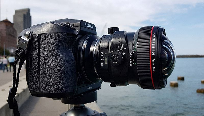 Fujifilm GFX 50S with Canon TS-E 17mm f/4L Tilt-Shift lens