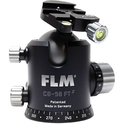 FLM pro tripod head CB-58FTR ballhead with tilt function (pro tripod head solution)