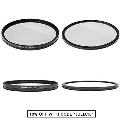 Formatt-hitech Firecrest circular polarizer Filter - regular and super-slim.