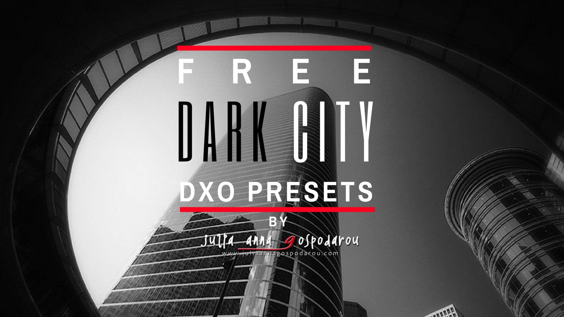 This is the NEW FREE extended 2021 version of the original fine art DxO Preset Series Dark City, created by Julia Anna Gospodarou. Μany fine art photographers have used these presets and they created outstanding fine art photography with them. I am using them myself extensively in my work. Get them FREE from the link above.