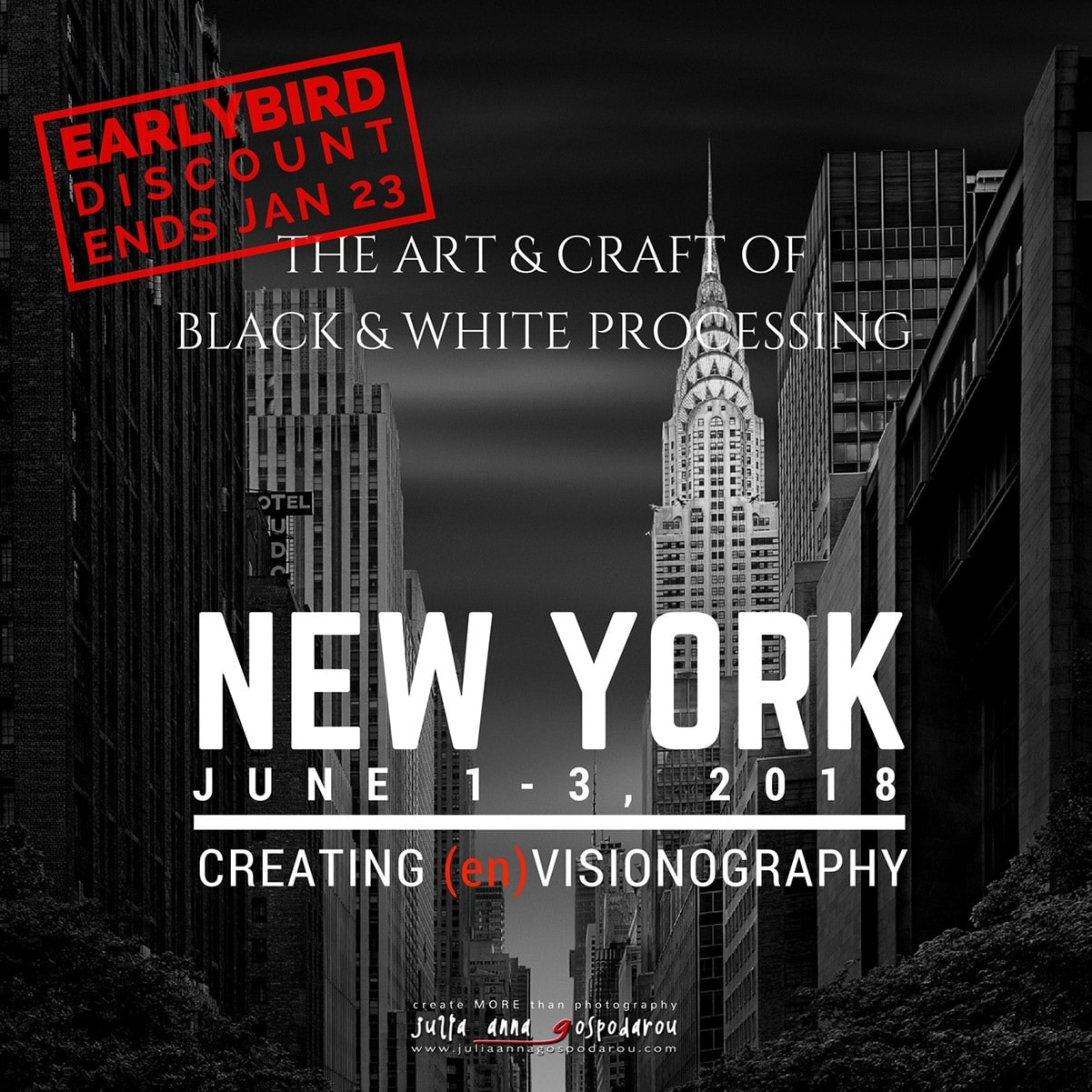 New York workshop 2018 black and white photography