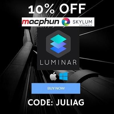 Skylum Macphun Luminar 4 discount 10% OFF - CODE JULIAG