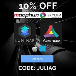 Skylum Macphun Luminar Discount Macphun Aurora HDR Discount