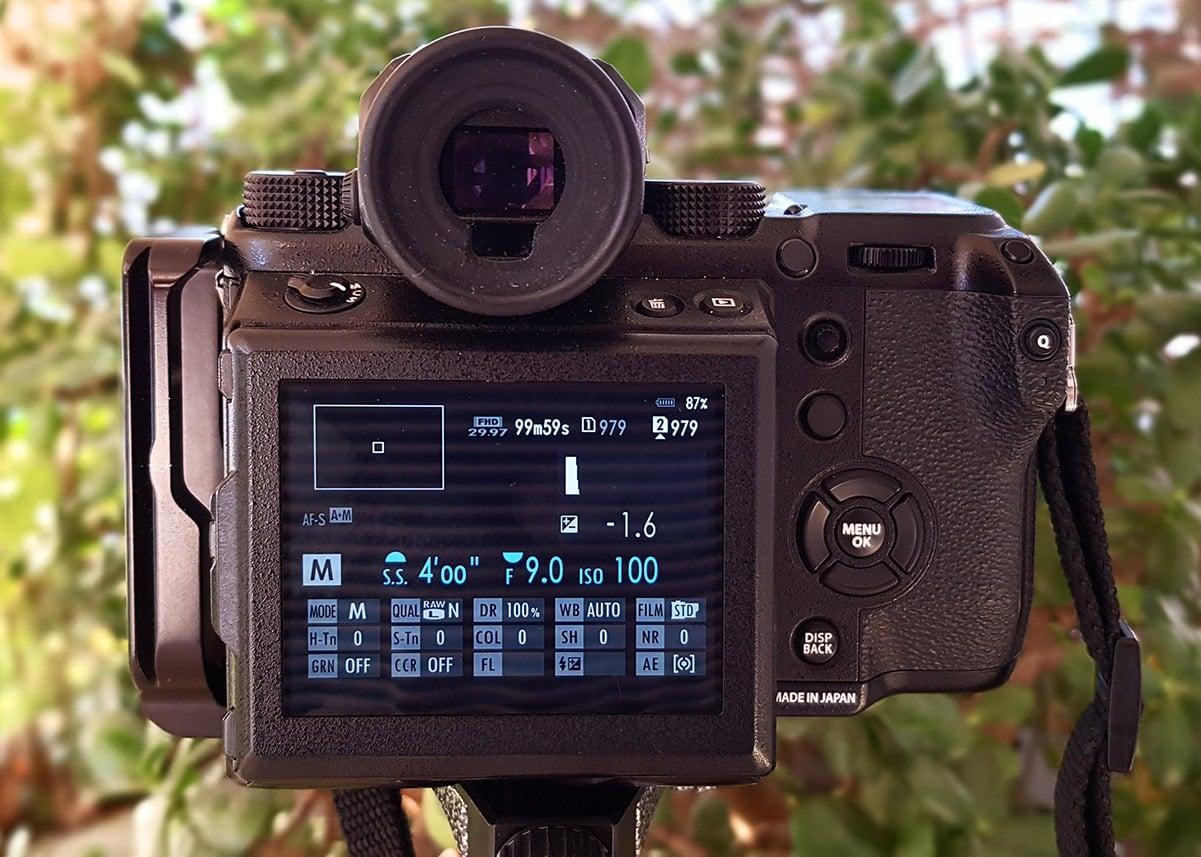 long exposure settings