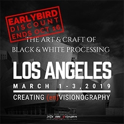 Los Angeles workshop 2019 black and white processing