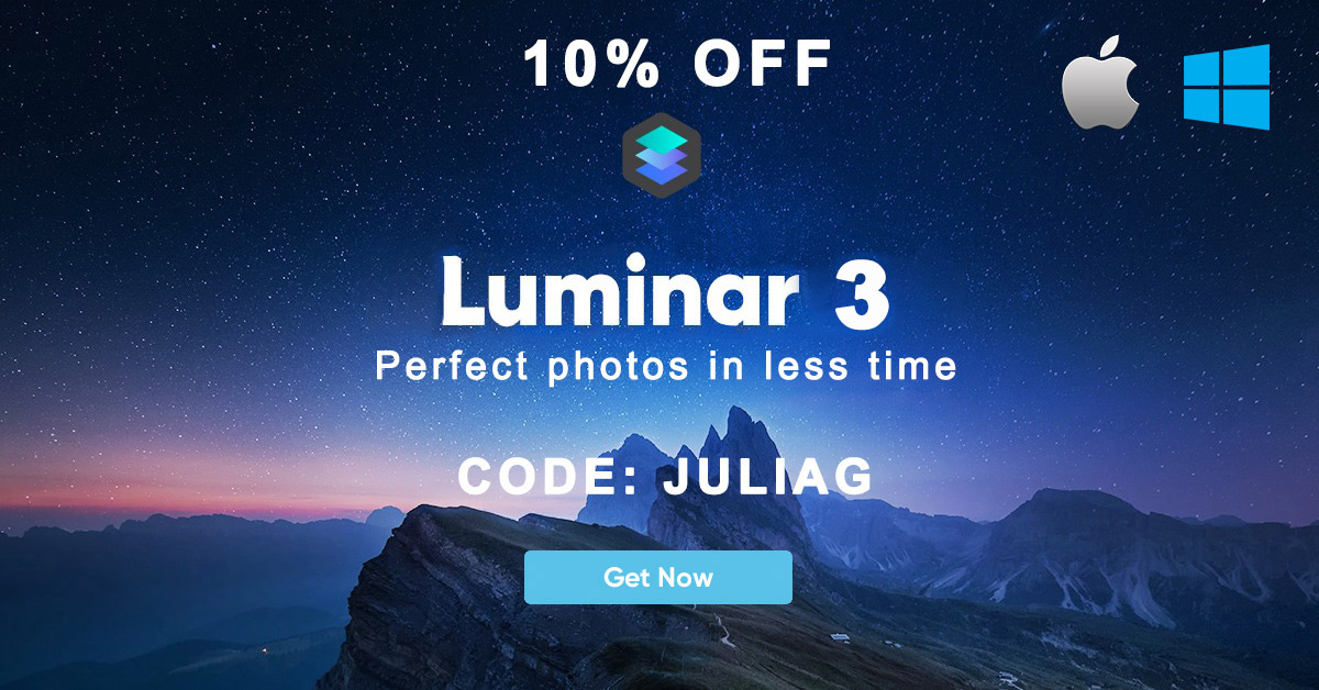 NEW! Luminar 3 with Libraries discount 10% OFF - CODE JULIAG