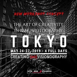 Tokyo workshop 2019 black and white processing and creativity