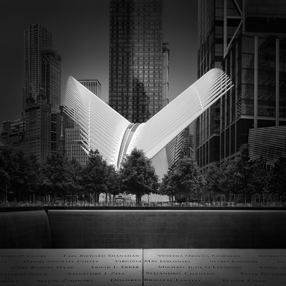Flying Away - New York Oculus Memorial Pools ©Julia Anna Gospodarou 2018 - (en)Visionography