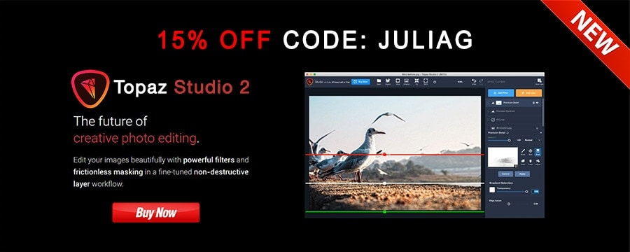 New Topaz Studio 2 discount 15% OFF