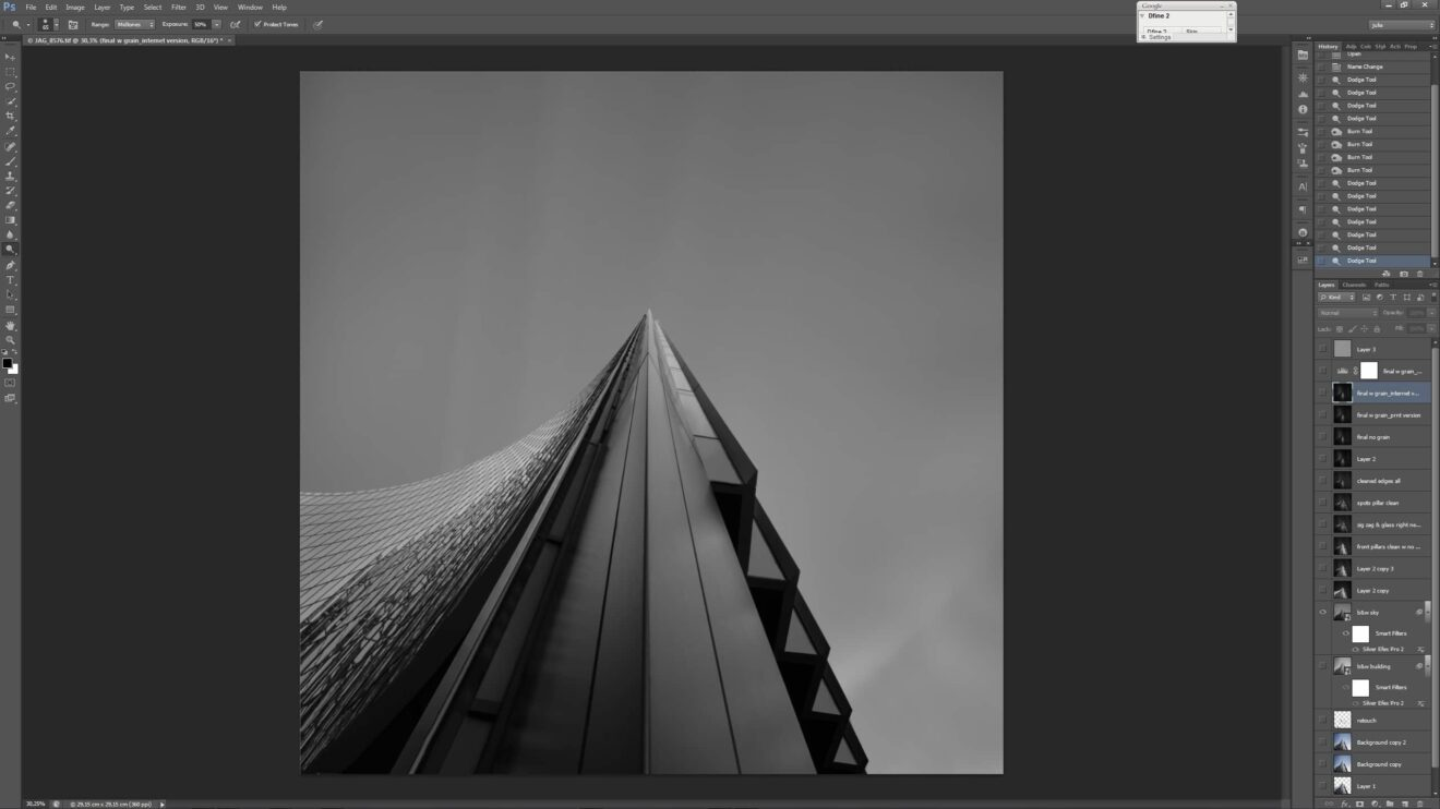 Straightforward B&W conversion - The first processing step towards creating (en)Visionography in Ode to Black | Black Hope I - Self Black