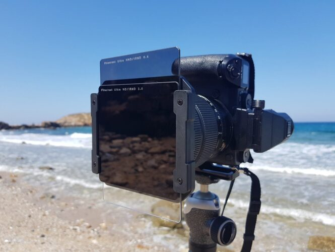 stacked square neutral density filters - long exposure photography in an urban environment