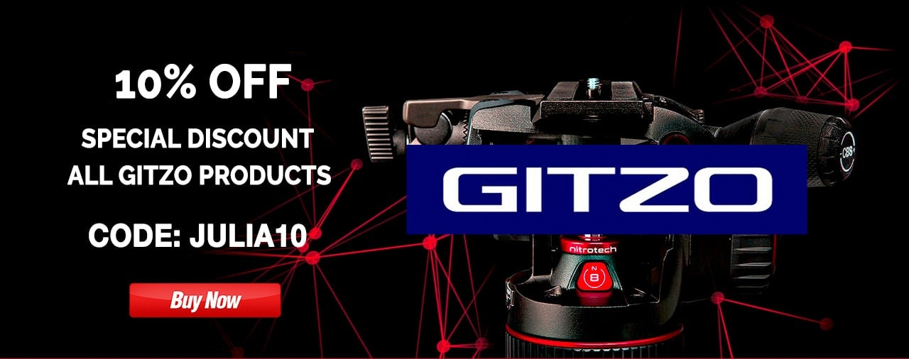 ANY GITZO PRODUCT - The best tripods and tripod accessories on the market - discount 10% OFF - CODE
