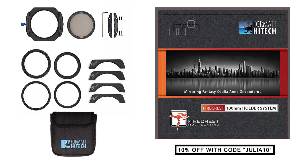 NEW Formatt-Hitech Firecrest 100mm Holder Kit MKII - Anti light-leak with integrated polarizer