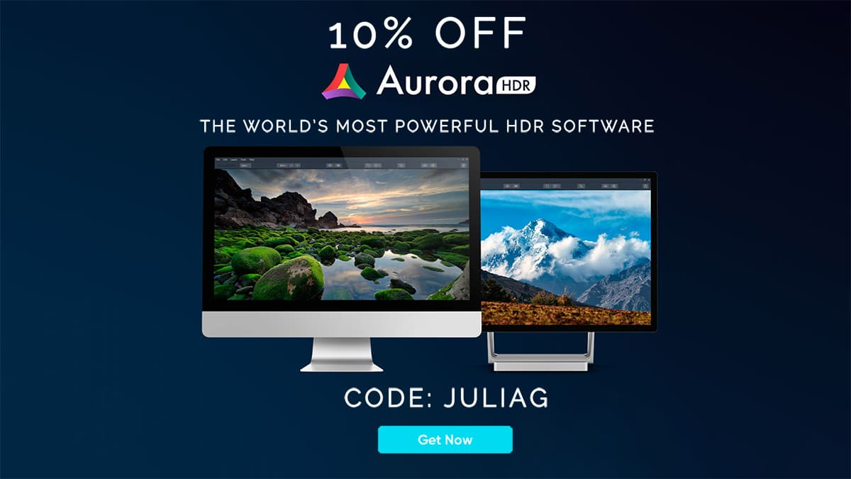 Aurora HDR is the most advanced and complete high dynamic range photo editor for Mac and PC. If you work with HDR for your architecture images, real estate photography or any other kind of images, Aurora HDR is a must. Get it 10% OFF from the link above with code JULIAG